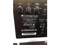 Cambridge Audio Minx x300 wireless subwoofer