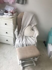 Used Nursing Chair / Rocking Chair and Stool