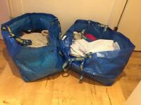 2 large Ikea bags womens clothes size 8-10