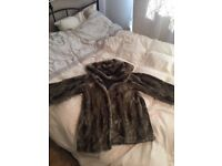 Size 14 faux fur coat