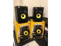 KRK Rokit RP5 G3 Active Monitor (x2/pair) & monitor isolators