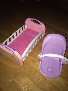Baby doll bed and carrier