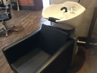 Hairdressing Backwash Basin and Chair Combo