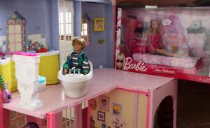 Grand Lot Maison Barbie Poupée Meubles Accessoires Voiture Valis