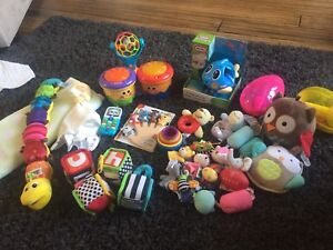 Lot of Infant toys, jumpers, playmates, and more!