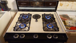 """30"""" Caloric Gas Range/Stove, Almond, works well, no power needed"""