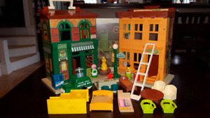 "Vintage Fisher Price ""Sesame Street"" playset"