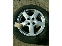 ***WHEEL 3*** 2002-2006 TOYOTA COROLLA E12 15 INCH ALLOY WHEEL WITH TYRE 195/60/R15