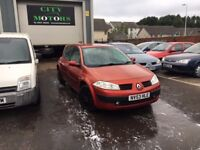 Renault Megane, New MOT, Low Miles, Warranty, Excellent Condition, Serviced