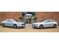 Wedding car hire from as little as £150.00. S-Class, E-Class & V-Class Mercedes.
