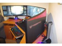 Acer Predator Z35 35 inch Widescreen Curved Monitor 144 Hz, 4 ms, G-Sync v2 (3 available)