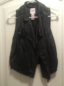 Candies faux leather vest