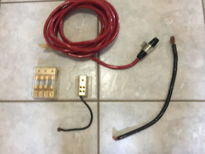 Car audio cables and fuse blocks