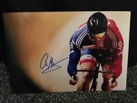 Sir Chris Hoy signed A4 photograph