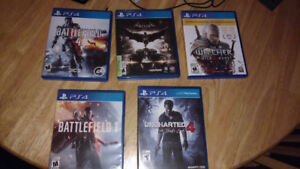 Selling 5 PS4 games