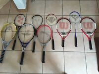 Assortment of sport rackets (9) SOLD subject to collection