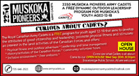 OPEN HOUSE: Attn Muskoka youth-come see what cadets is all about
