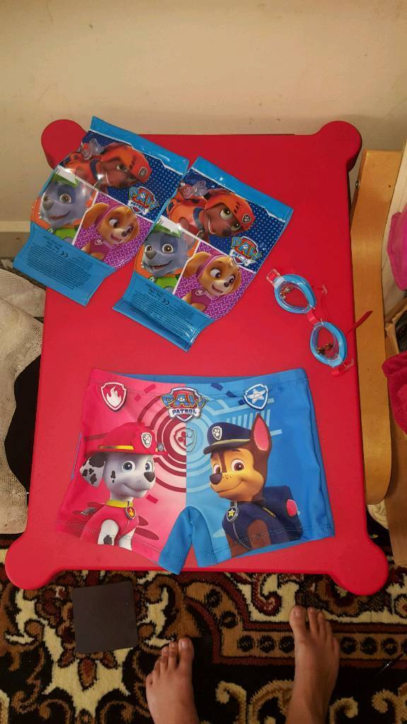 Paw Patrolin Southampton, HampshireGumtree - Paw Patrols swimming shorts 5/6. Googles, Armbands. Excellent Condition. Anymore imformation message me. Thanks!