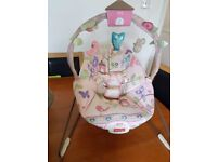 Baby swing and bouncer excellent condition with music