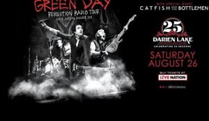 4 Green day tickets