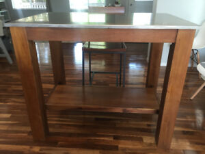 West Elm Kitchen Isle/High Dining Table (w/ 2 Chairs) - $500 OBO