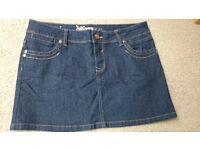 Womens Yes Yes Brand blue denim skirt size 12
