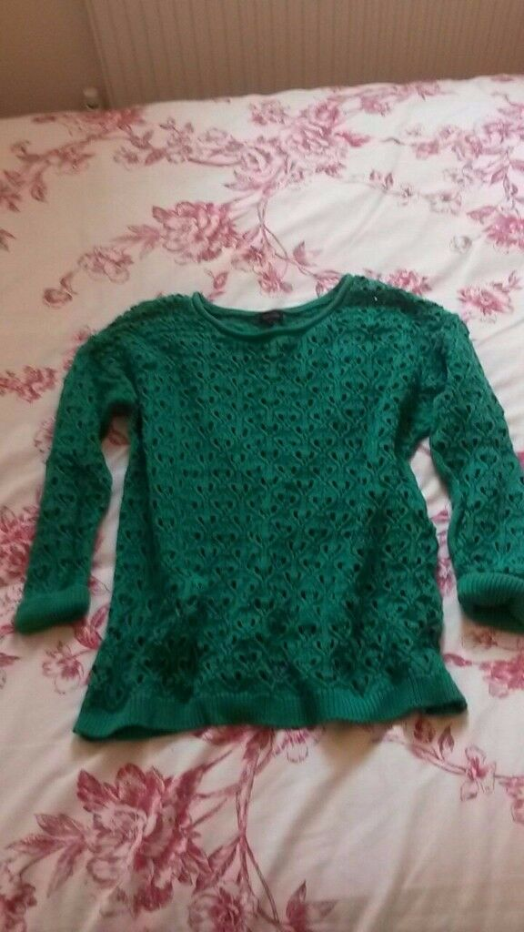 River Island green knit jumper