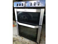 Belling Electric Double Oven with Ceramic Hob Black/Stainless Steel