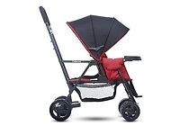 Brand new Joovy Caboose Graphite Stand-On Tandem Pushchair (Red)