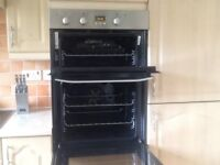 Hotpoint built in double oven DD53X less than 1 year old
