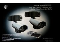 black and white cctv system with dvr