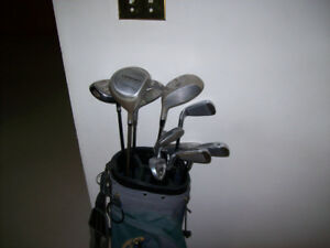 MEN'S  RIGHT H.  GOLF CLUBS ( BAG INCLUDED )