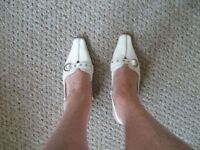 Ladies white shoes