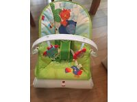 Fisherprice baby vibrating bouncer never used