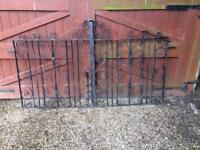 Awesome Wrought iron gates. No rust 8ft