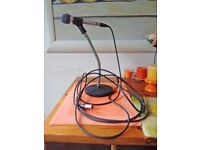 Microphone with stand and cable