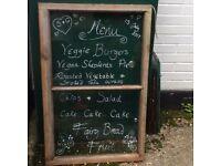 Vintage Wooden Window for Chalk Event Menu or similar
