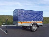 TEMA 7ft x 4ft 750kg Car trailer with canvas cover
