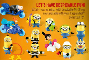 Despicable Me 3 minions happy meal toys
