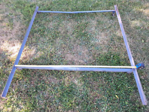Steel solid adjustable width  Bed frame twin/double/queen