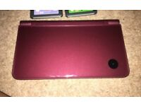 Nintendo DSi XL wine red excellent condition