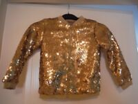 For Sale - Girls Gold sequined zip up jacket