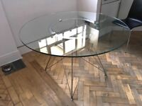 Glass dining table by Dwell for sale