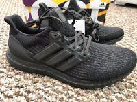 Adidas Ultra Boost 3.0 Triple Black Sizes Trainers Ultraboost Size 9