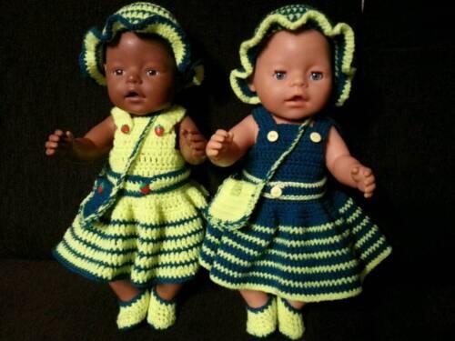 Puppenkleidung In Handarbeit Gehäkelt Passend Für Baby Born In