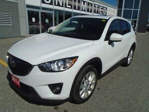 2014 Mazda CX-5 **NAV, HID LIGHTS & LEATHER!** LOADED GT TECH AW