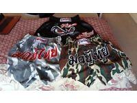 Used 3 paits of muay thai twins shorts, XL(1) & XLL(2)