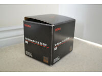 Sigma 10-20mm f4-5.6 EX DC HSM Nikon Fit Lens - Excellent condition + Polaroid CPL filter