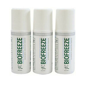 3 Biofreeze Pain Relieving Roll on Gel Tax included or $20 Each