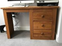Dressing Table or Office Desk including leather Chair